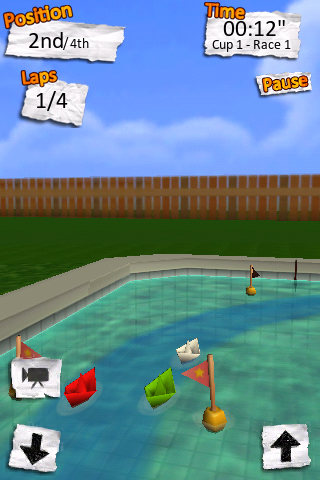 Screenshot Paper Boat Race Review